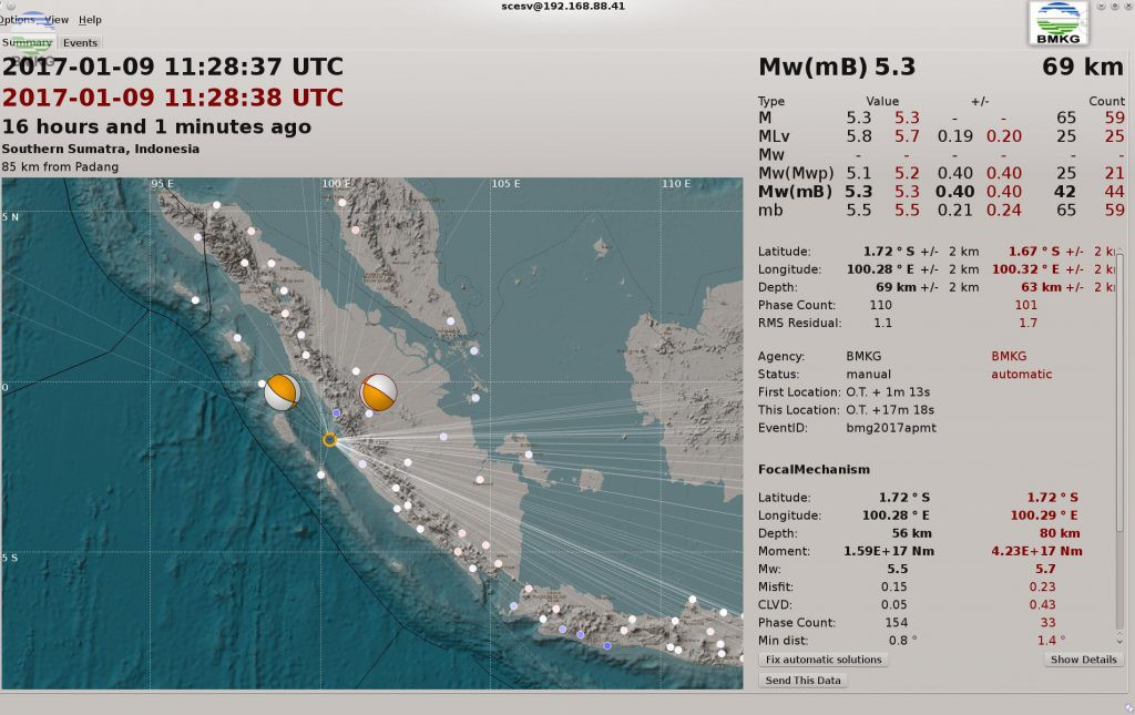 Earthquake Hit West Sumatera, No Tsunami Warning