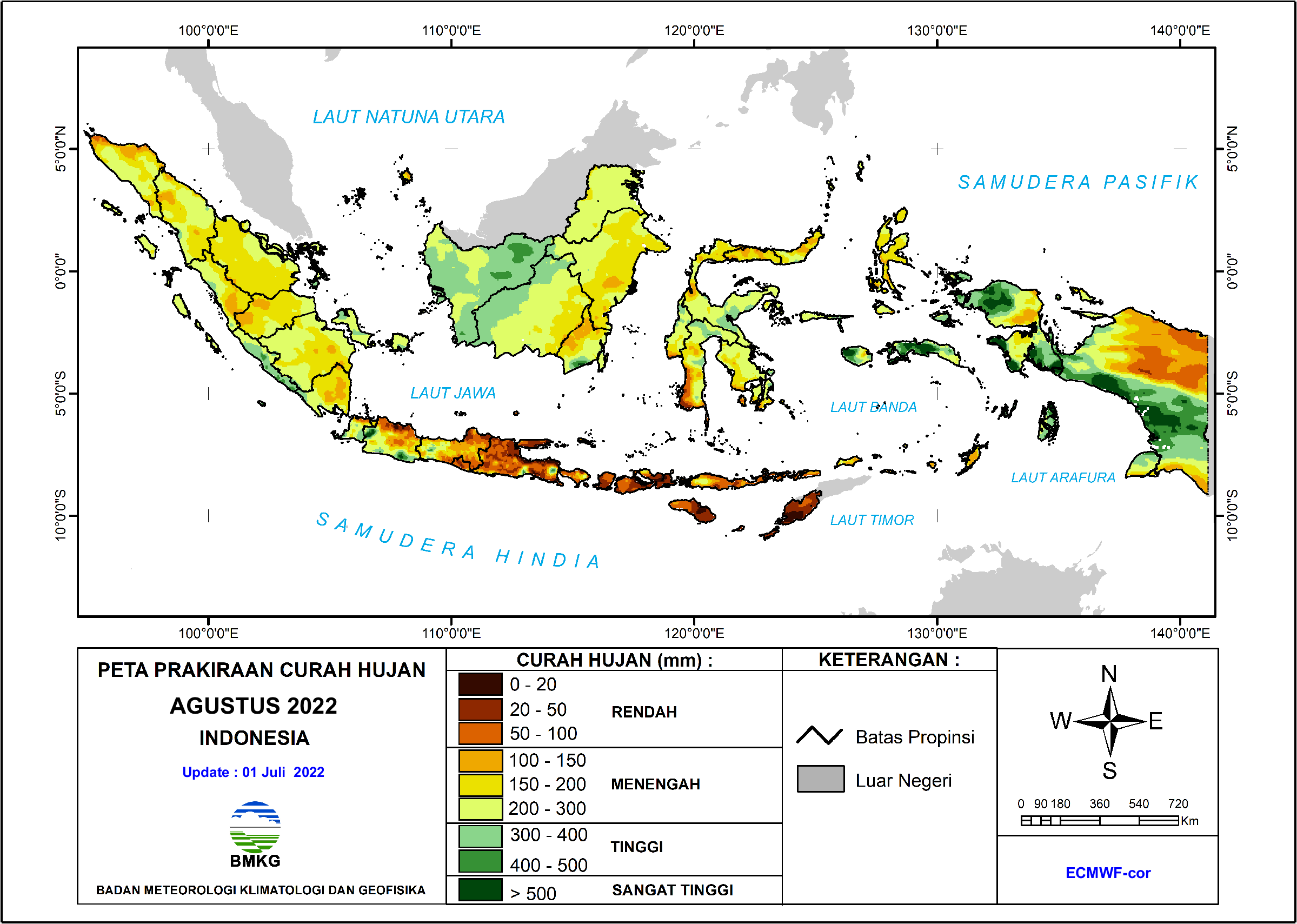 Prakiraan Curah Hujan Bulanan - Indonesia