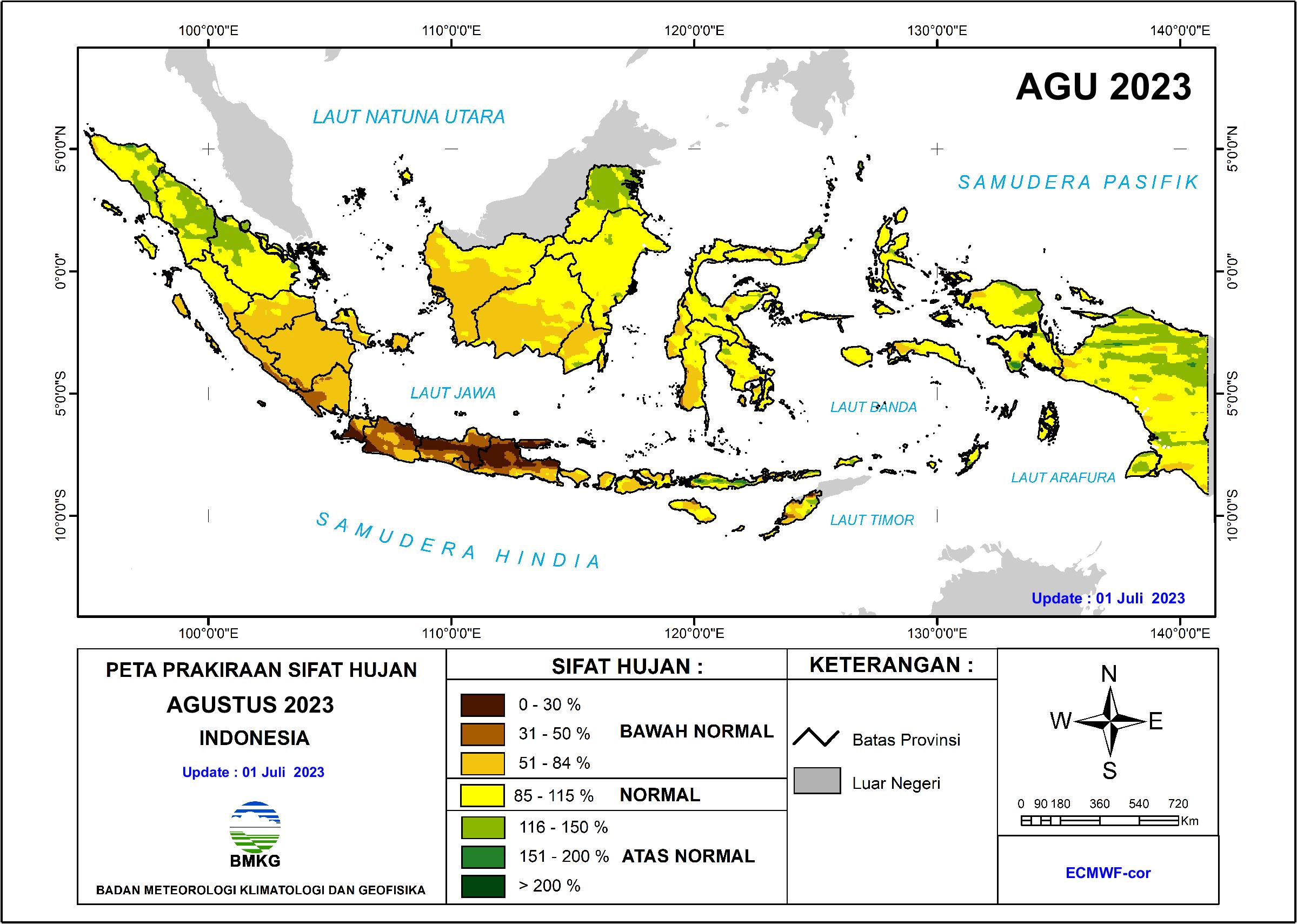 Prakiraan Sifat Hujan Bulanan - Indonesia