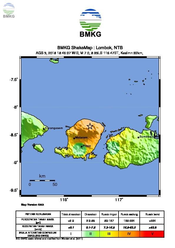 Ulasan Guncangan Tanah Gempa Lombok Timur 05 Agustus 2018