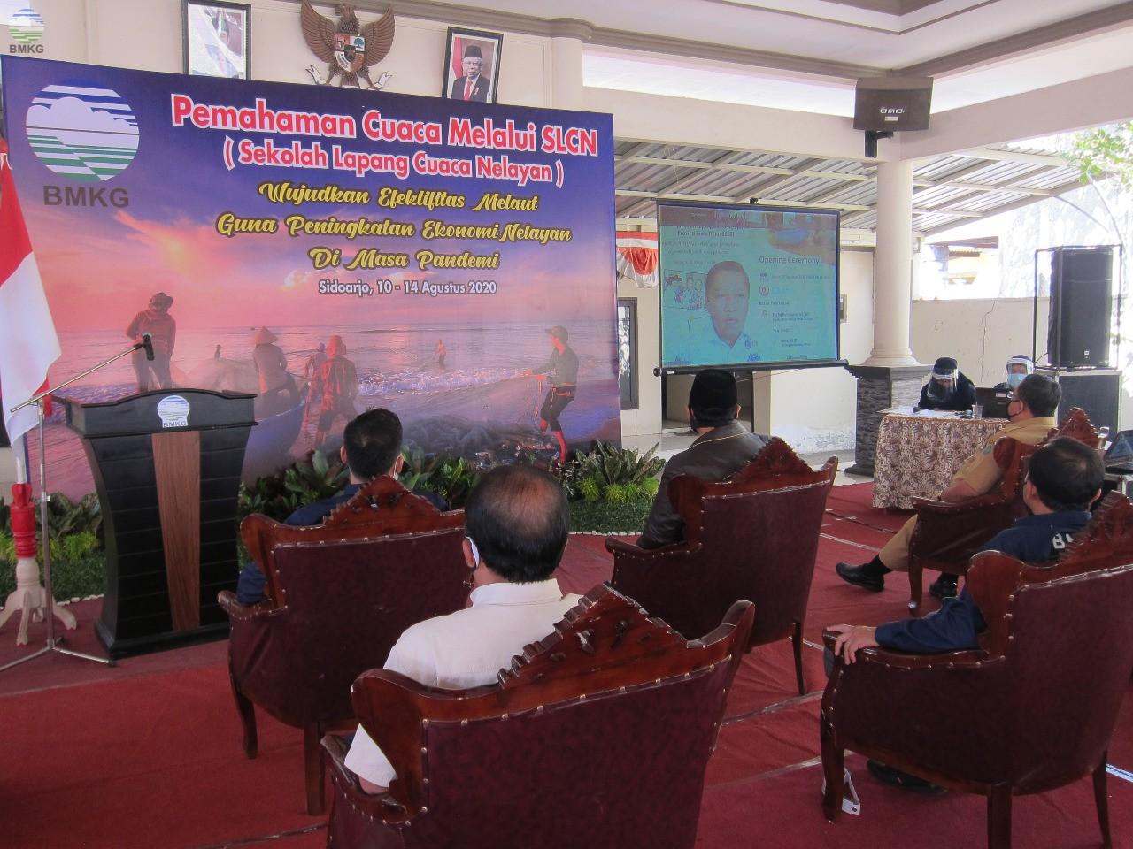 Melalui Video Conference, Deputi Meteorologi BMKG Buka Kegiatan Sekolah Lapang Cuaca Nelayan Provinsi Jawa Timur Tahun 2020