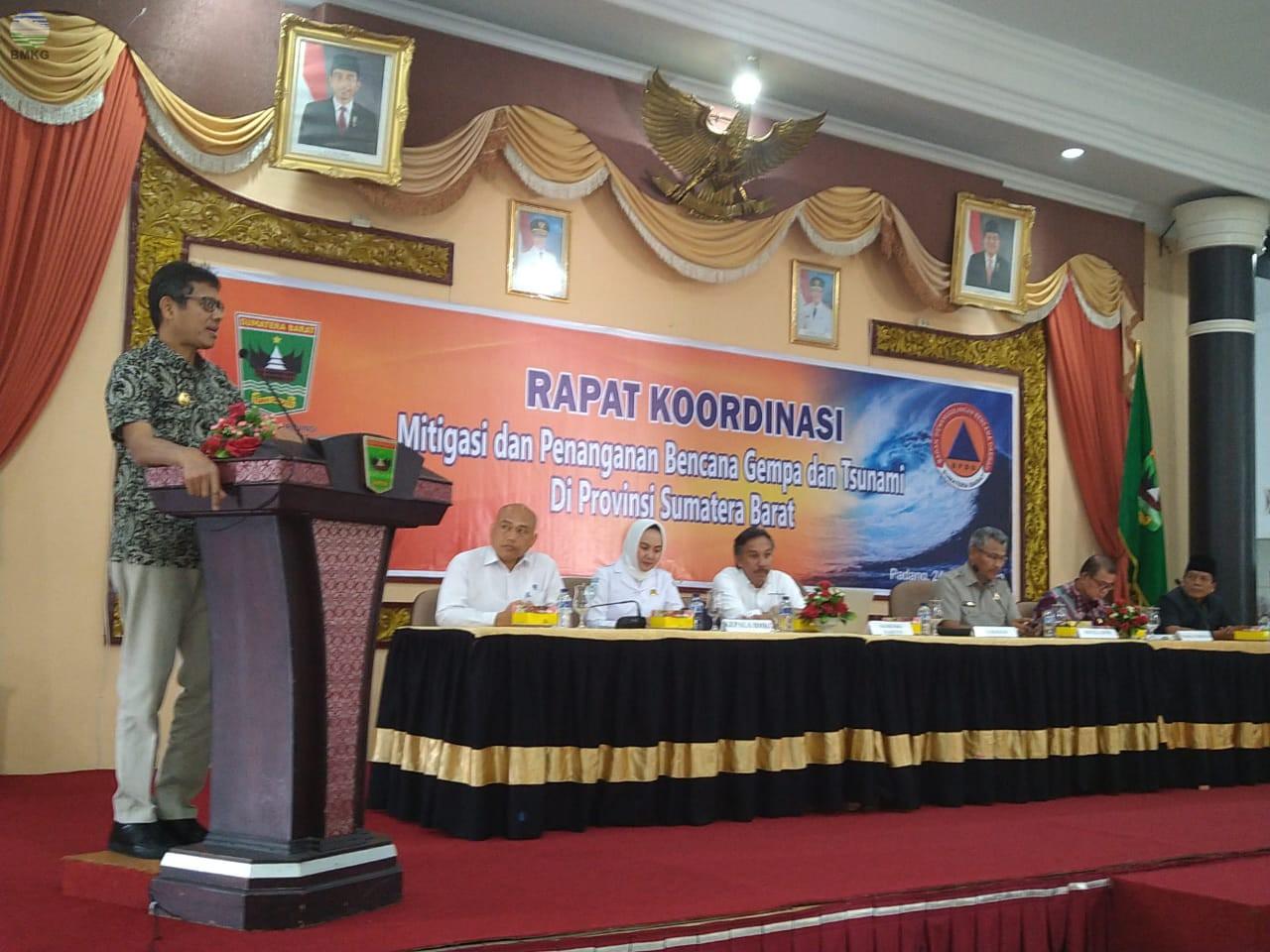 Kepala BMKG Hadiri Rakor Mitigasi Bencana Gempa bumi dan Tsunami di Padang