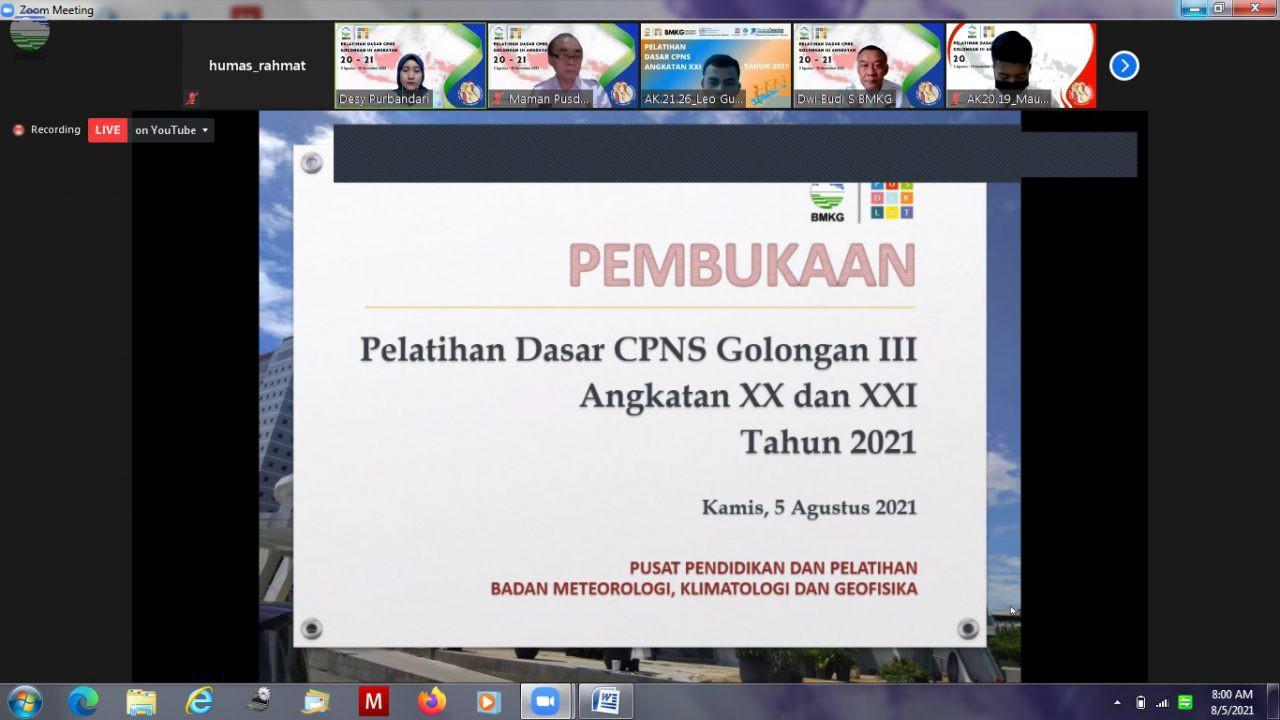 Pelatihan Dasar CPNS Golongan III Angkatan XX dan XXI Tahun 2021