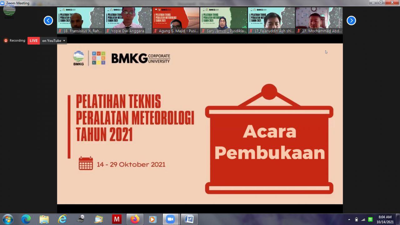 Tingkatkan Kompetensi Teknis Bidang Tugas, Pusdiklat BMKG Gelar Pelatihan Teknis Peralatan Meteorologi Tahun 2021