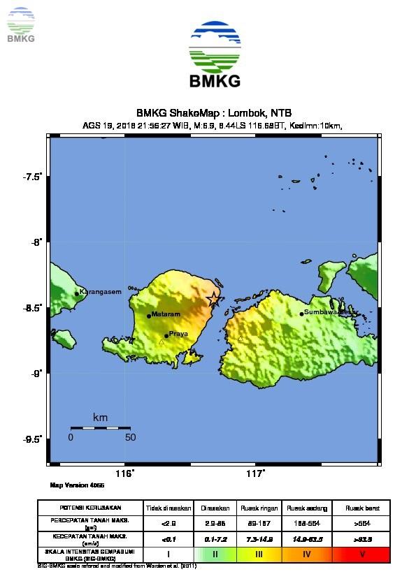 Ulasan Guncangan Tanah Akibat Gempa Lombok Timur 19 Agustus 2018