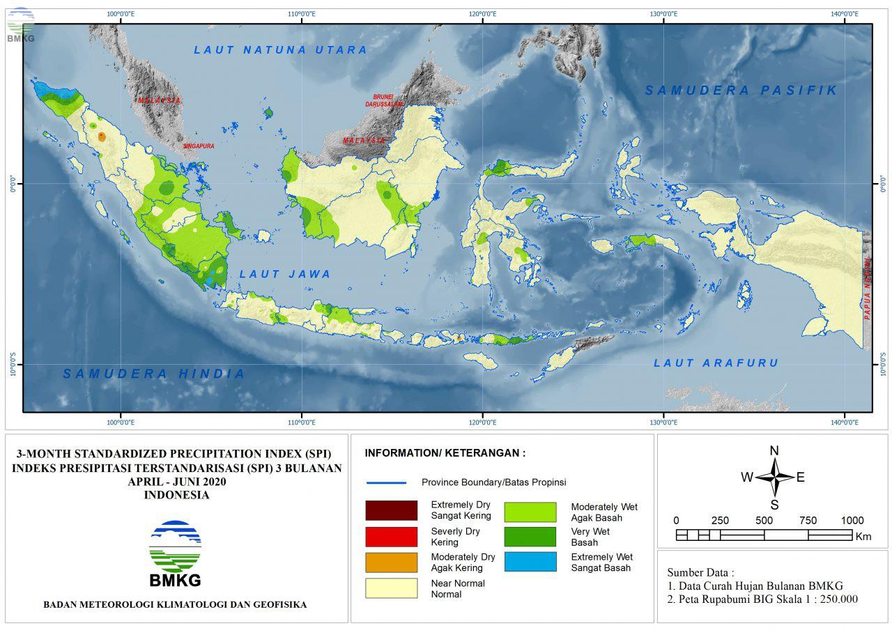 The Standardized Precipitation Index July 2020