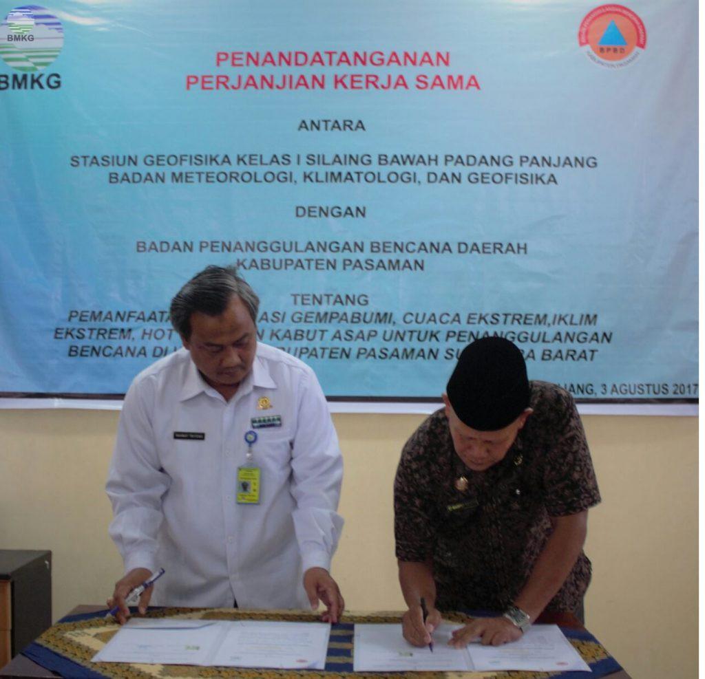 BMKG Padang Panjang-BPBD Kabupaten Pasaman Kurangi Resiko Bencana
