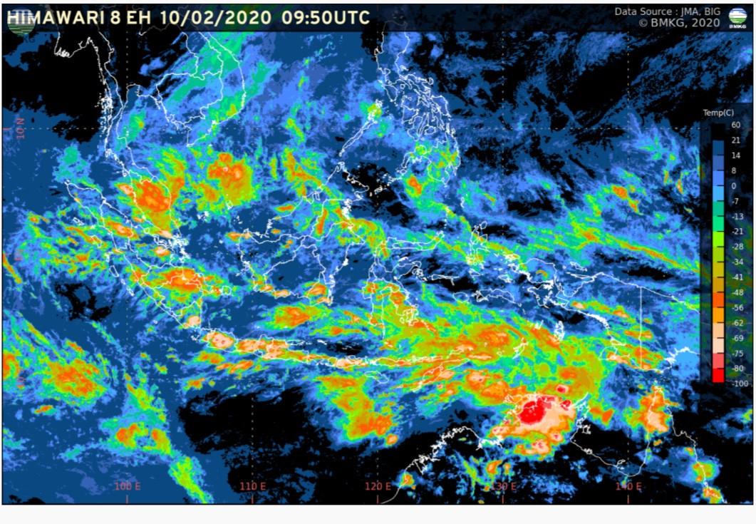 Perkembangan Kondisi Cuaca Sepekan ke Depan (08-13 Februari 2020)