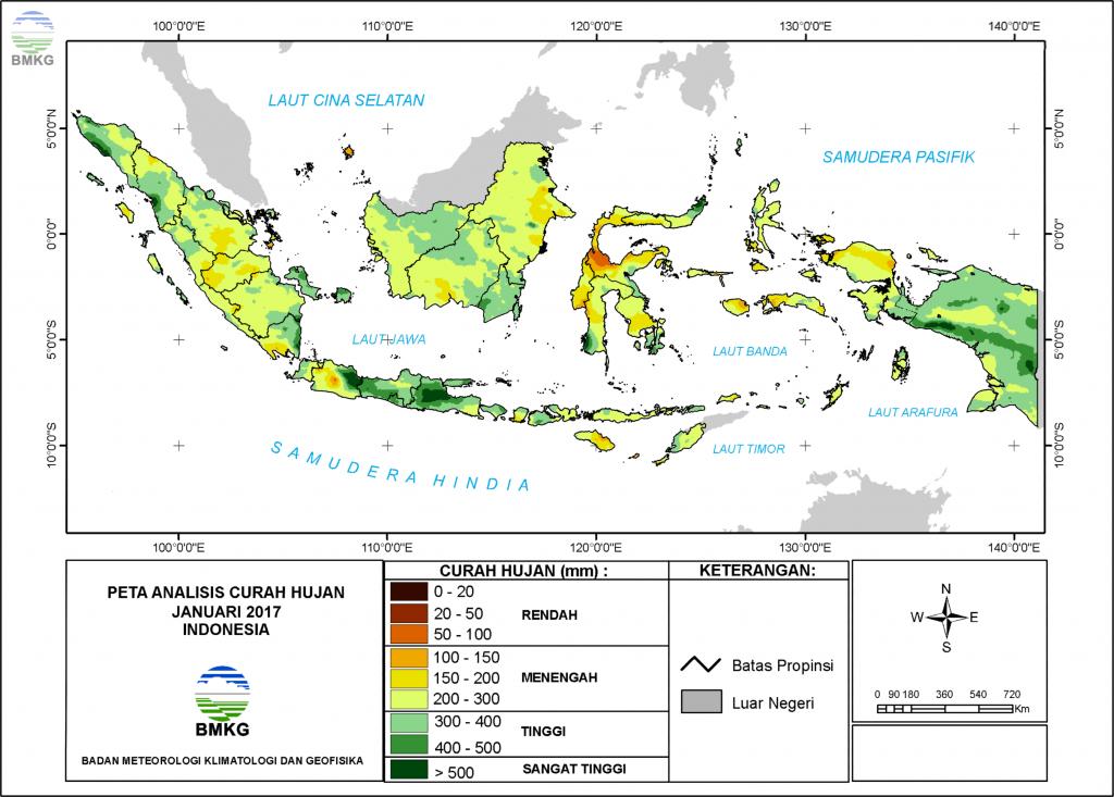 Analisis Curah Hujan dan Sifat Hujan Bulan Januari 2017