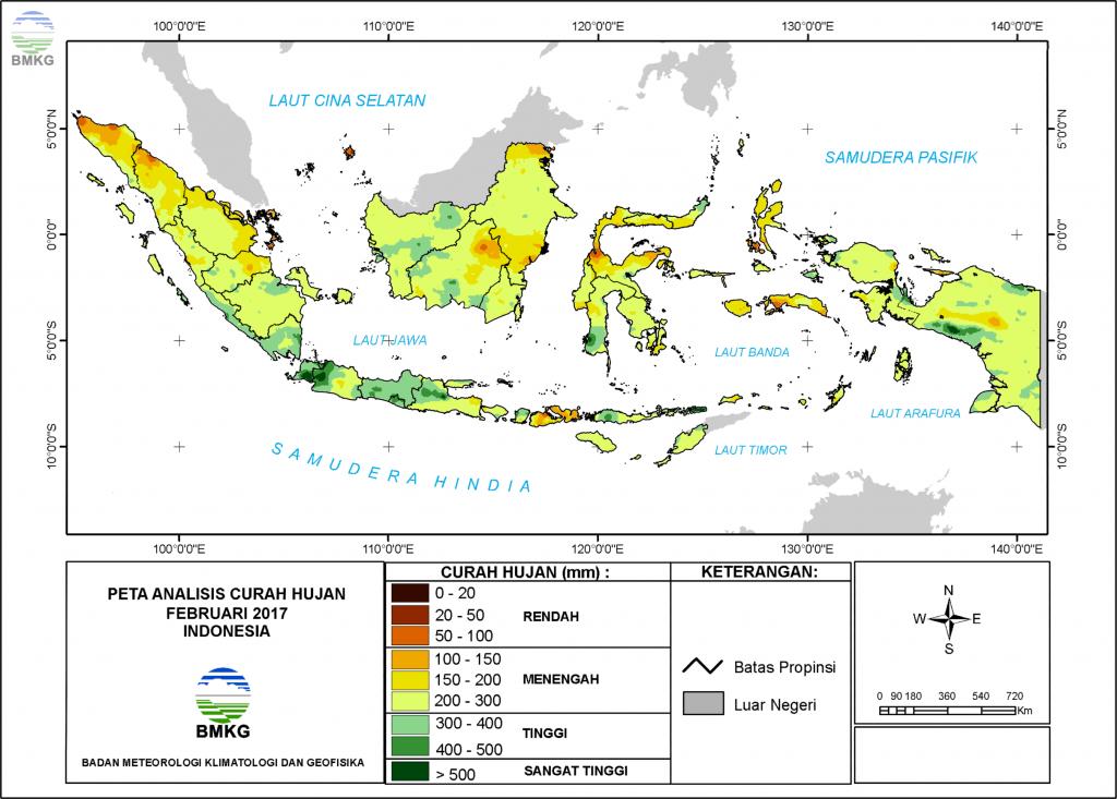 Analisis Curah Hujan dan Sifat Hujan Bulan Februari 2017