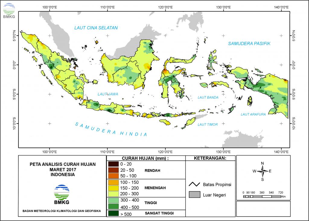 Analisis Curah Hujan dan Sifat Hujan Bulan Maret 2017