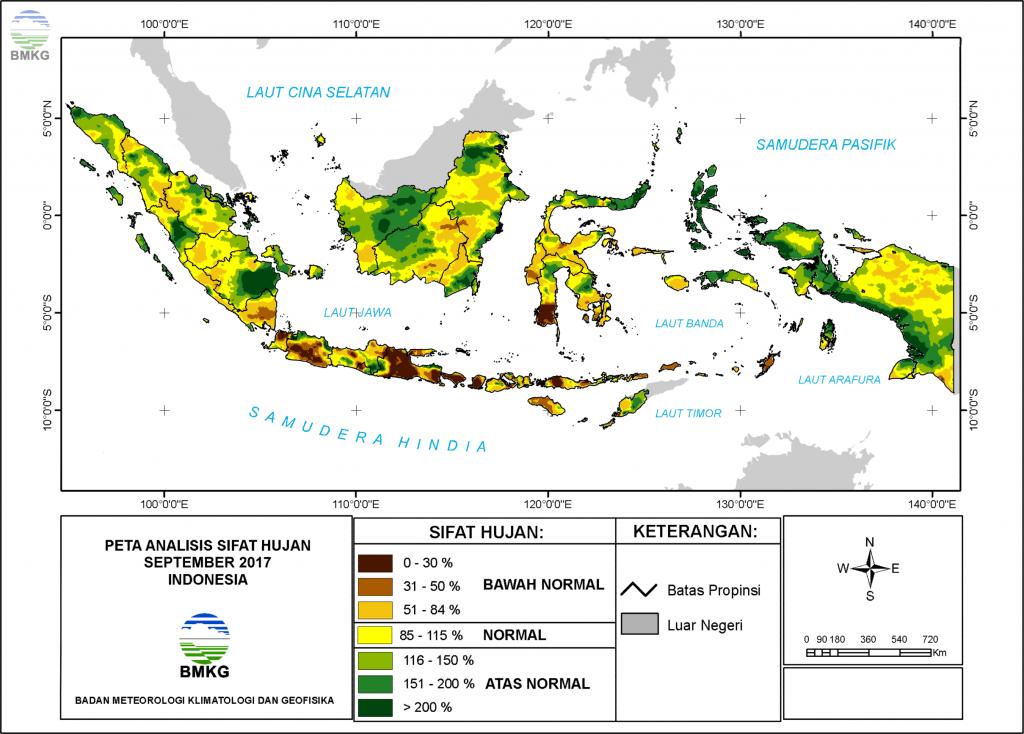 Analisis Curah Hujan dan Sifat Hujan Bulan September 2017