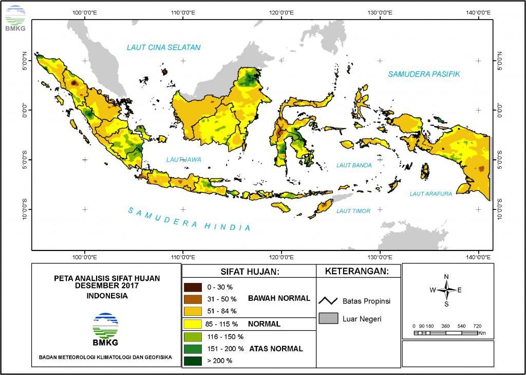 Analisis Curah Hujan dan Sifat Hujan Bulan Desember 2017