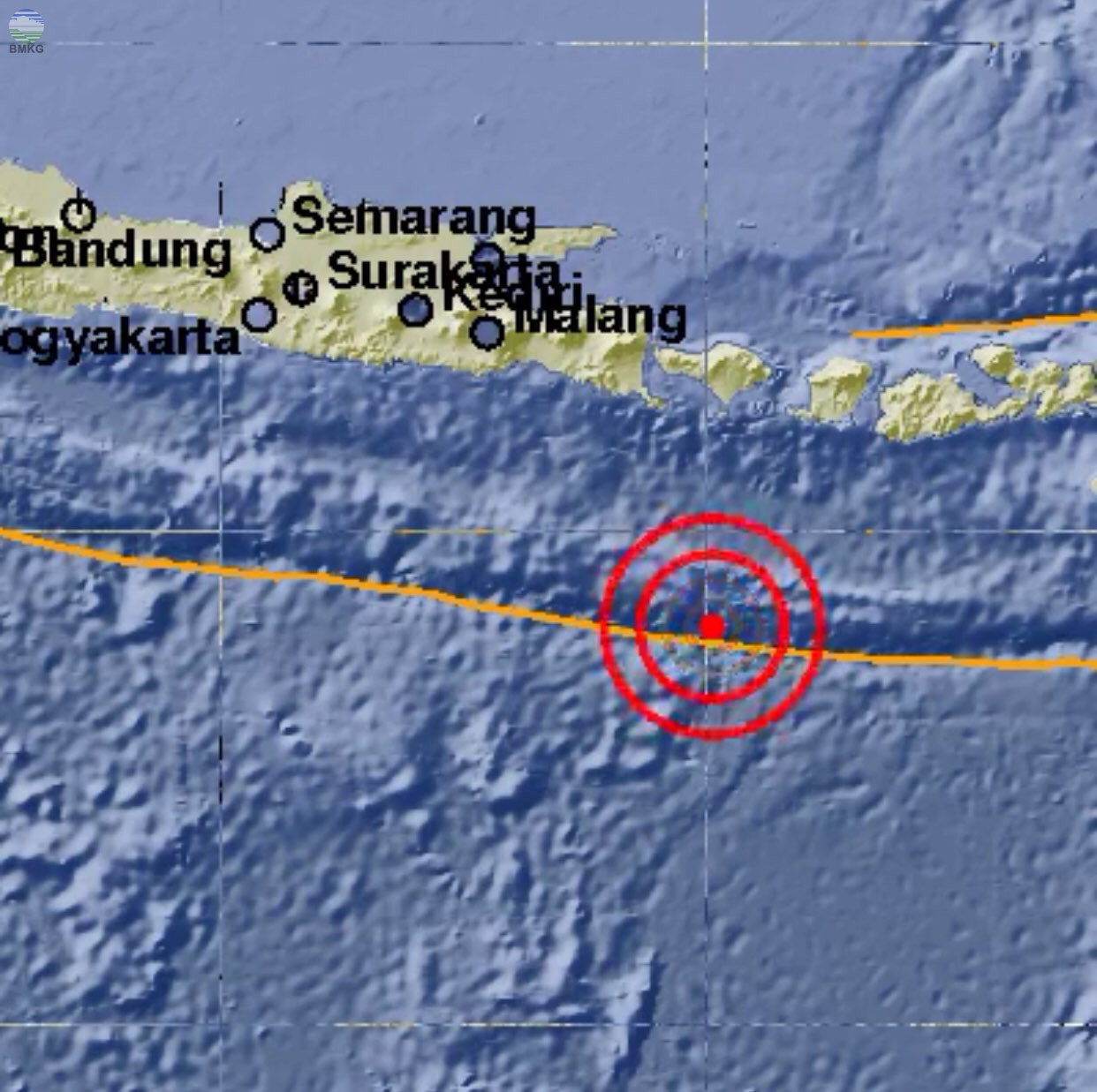 Gempabumi Tektonik M=4.9 Mengguncang Samudra Hindia Selatan Bali