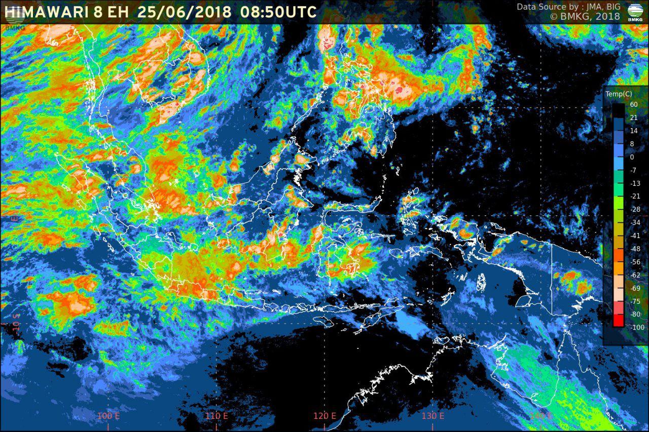 Potensi Hujan Meningkat, Waspada Banjir dan Longsor di Beberapa Wilayah Indonesia (26-29 Juni 2018)