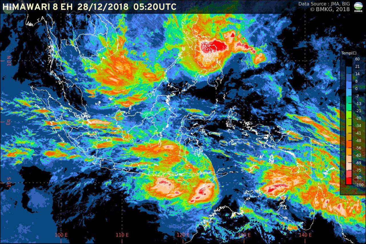 Perkembangan Kondisi Cuaca Wilayah Indonesia Menjelang Akhir Tahun 2018