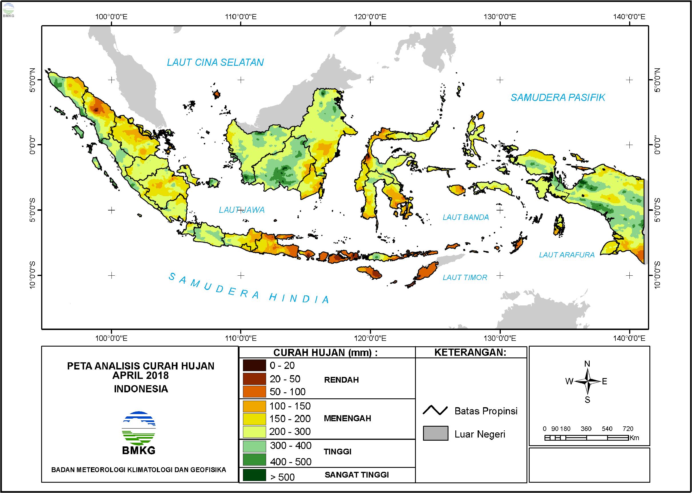 Analisis Curah Hujan dan Sifat Hujan Bulan April 2018