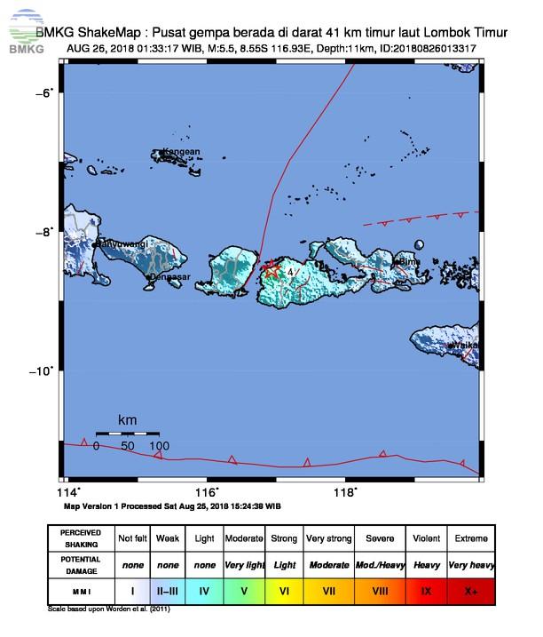 Gempabumi Susulan M=5.5 Guncang Kabupaten Sumbawa Barat, Tidak Berpotensi Tsunami