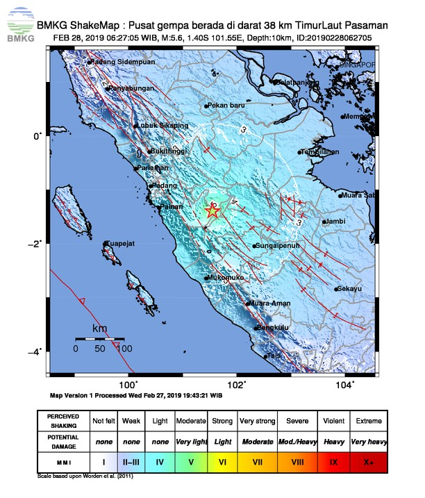 Gempabumi Tektonik M 5,6 Mengguncang Kabupaten Solok Selatan