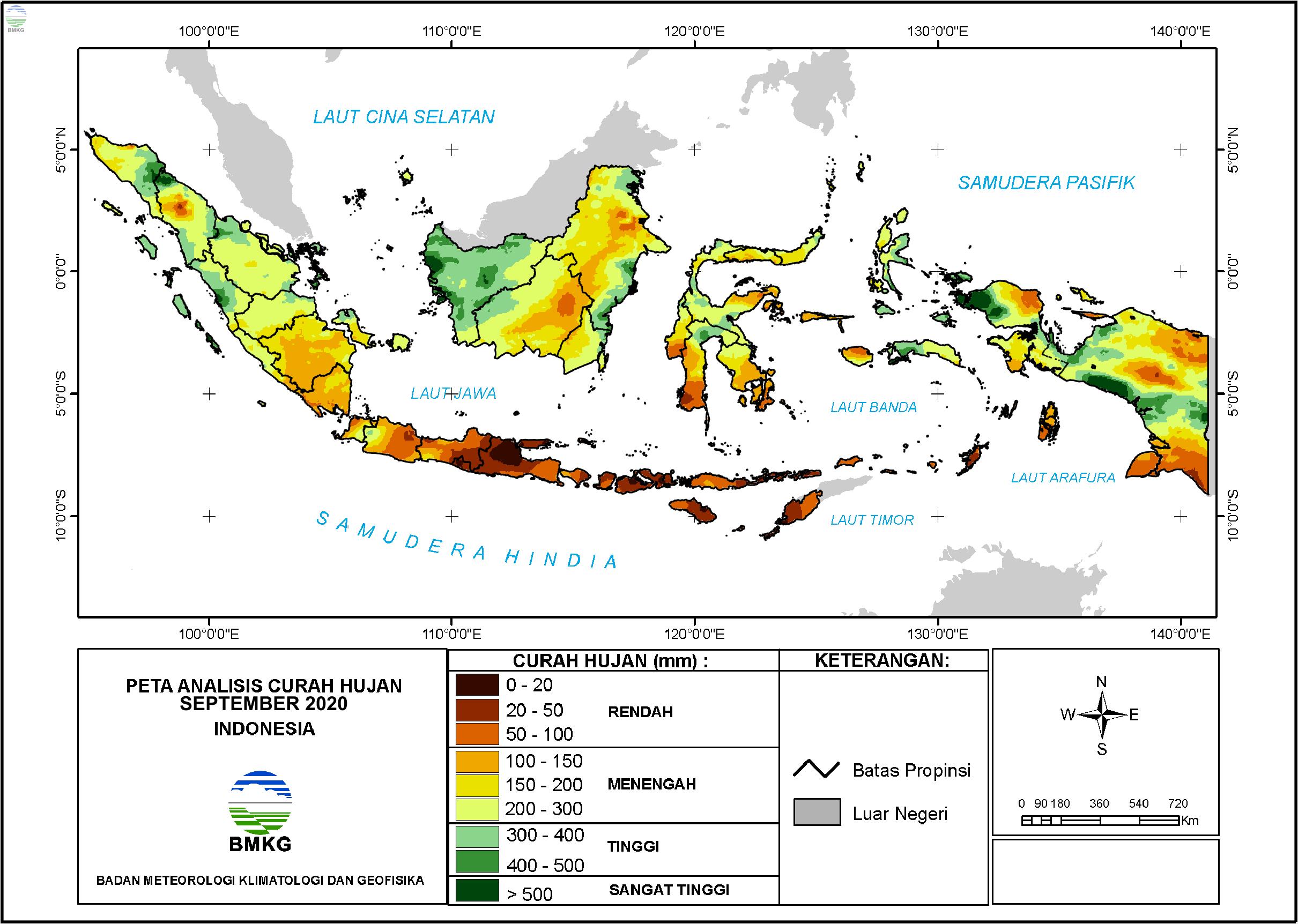 Analisis Curah Hujan dan Sifat Hujan September 2020