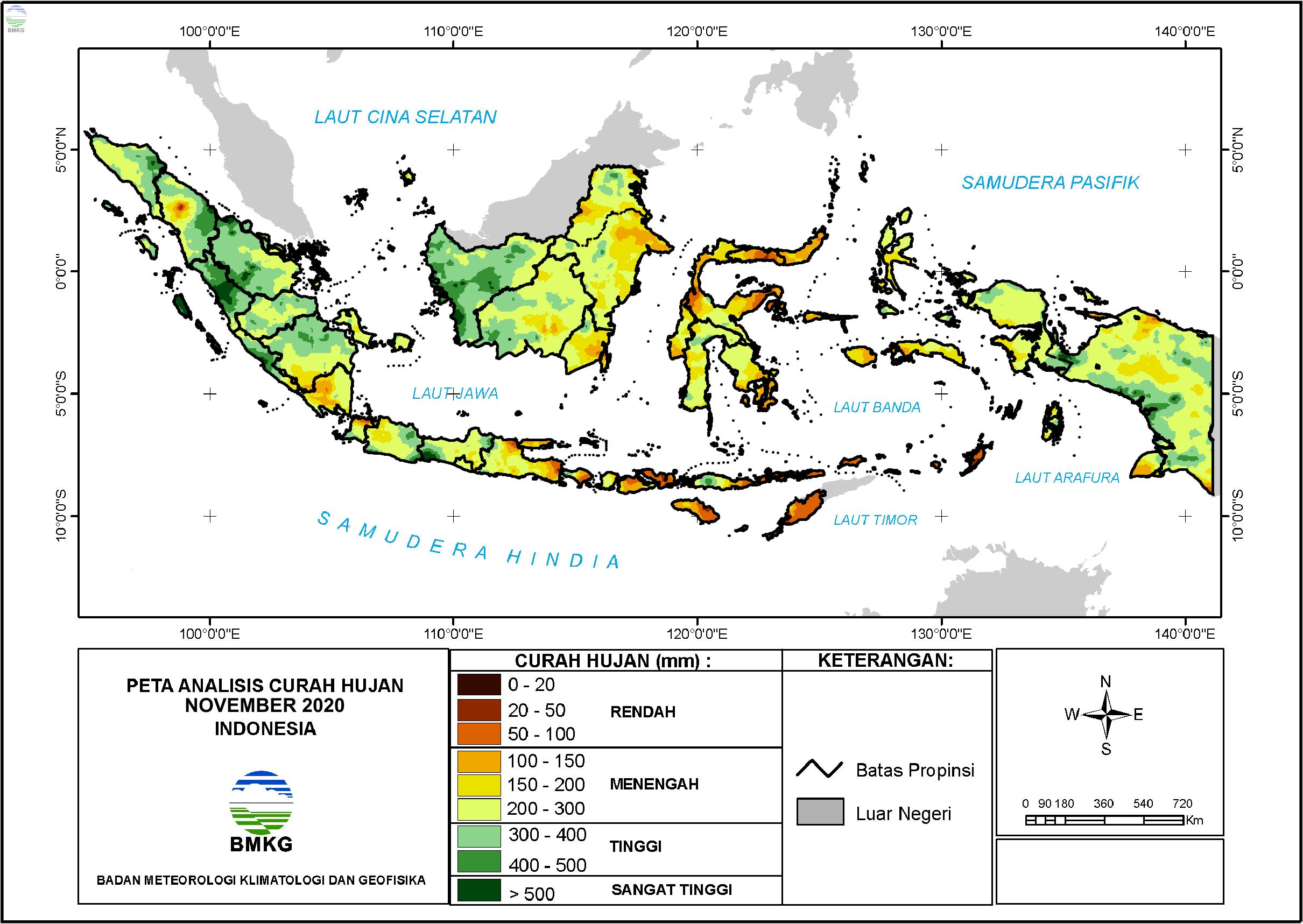Analisis Curah Hujan dan Sifat Hujan November 2020