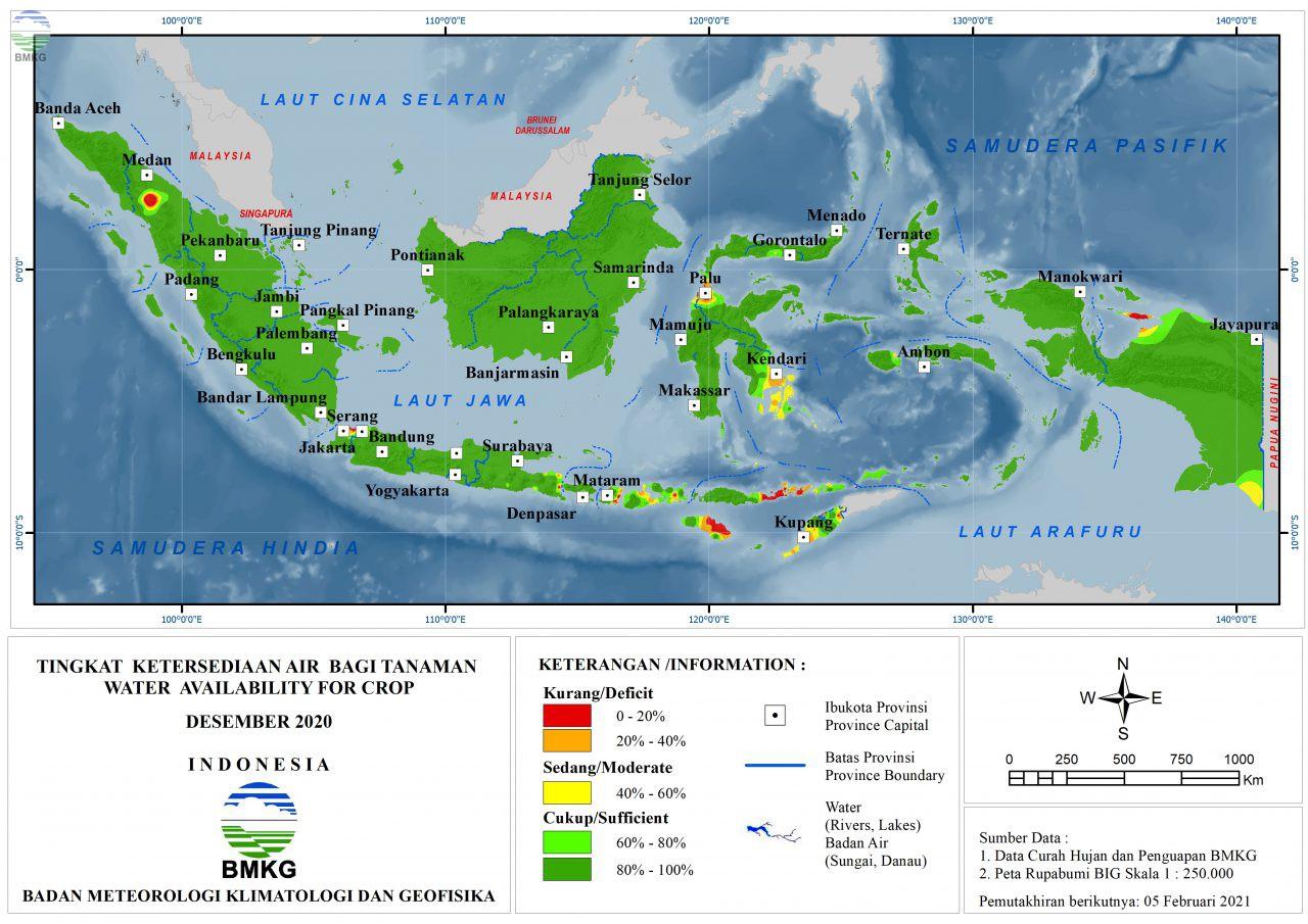 Tingkat Ketersediaan Air Bagi Tanaman - Desember 2020