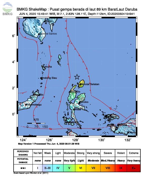 Gempabumi Tektonik M 7,1 di Maluku Utara, Tidak Berpotensi Tsunami