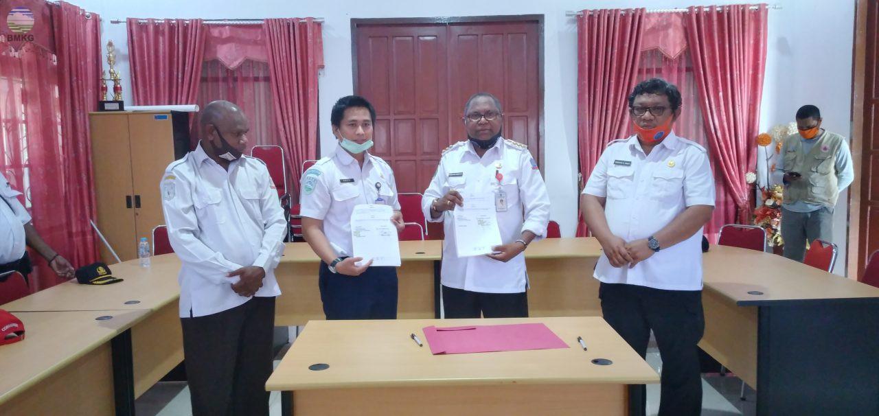 BMKG Stasiun Geofisika Sorong Jalin Kerjasama dengan Pemerintah Kab. Sorong Selatan
