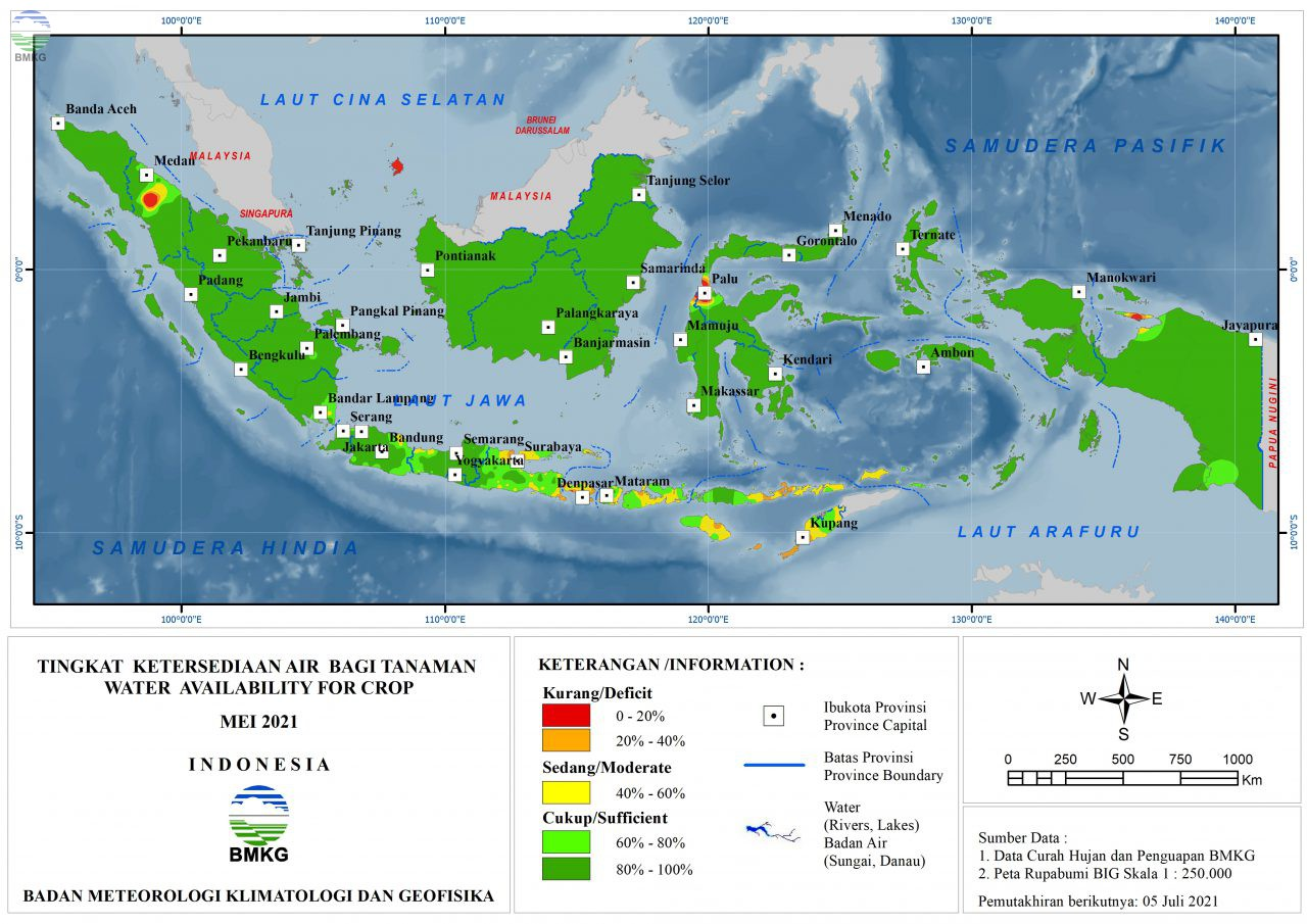 Tingkat Ketersediaan Air Bagi Tanaman - Mei 2021