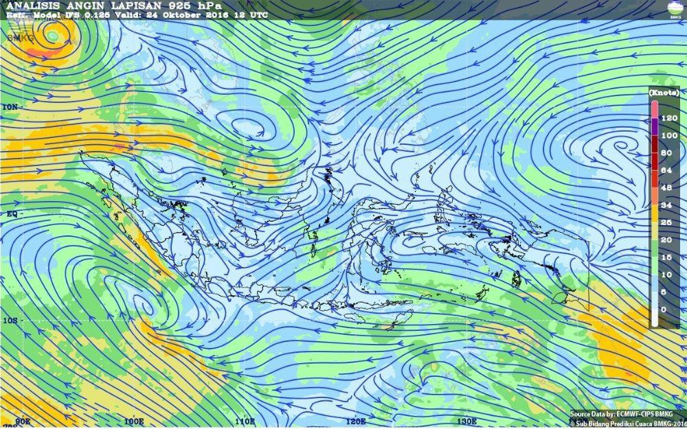 Waspada Potensi Hujan Lebat di Wilayah Indonesia 25-27 Oktober 2016