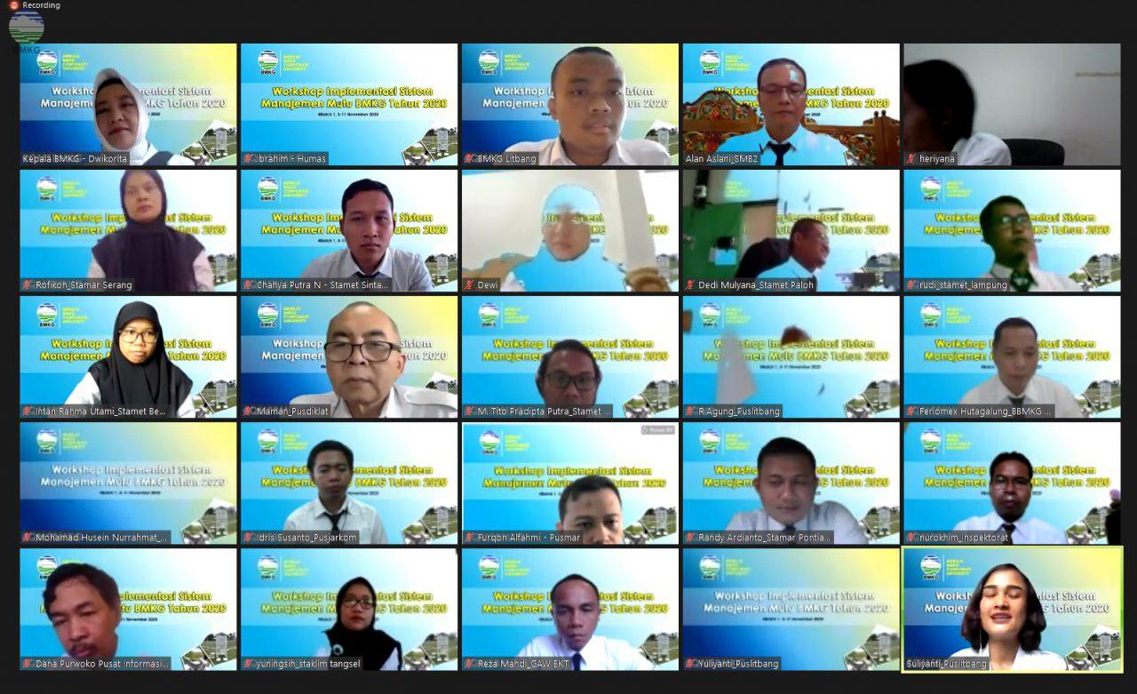 BMKG Gelar Workshop Implementasi Sistem Manajemen Mutu Tahun 2020