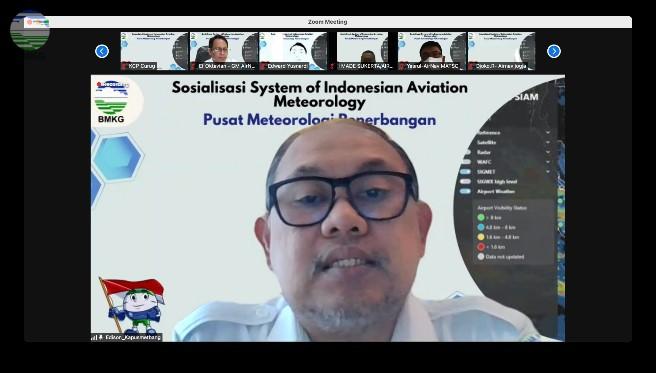 Tingkatkan Keselamatan Di Bidang Penerbangan, Pusmetbang BMKG Gelar Sosialisasi Sistem SIAM