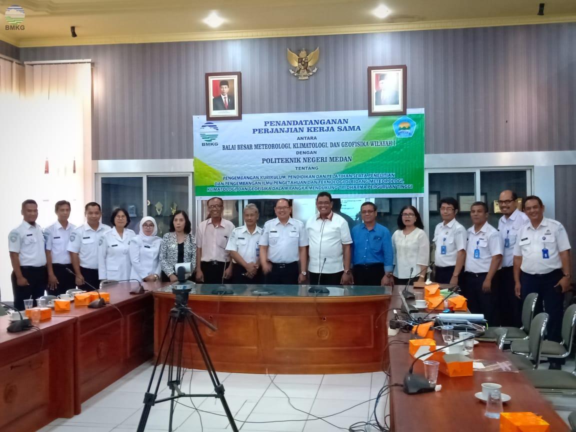 BBMKG Wilayah I Jalin Kerja Sama dengan Politeknik Negeri Medan