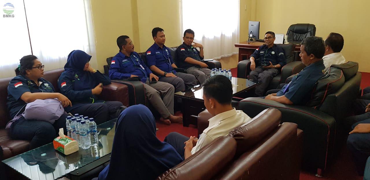 Deputi Inskalrekjarkom BMKG Lakukan Kunjungan Kerja ke BBMKG Wilayah I Medan