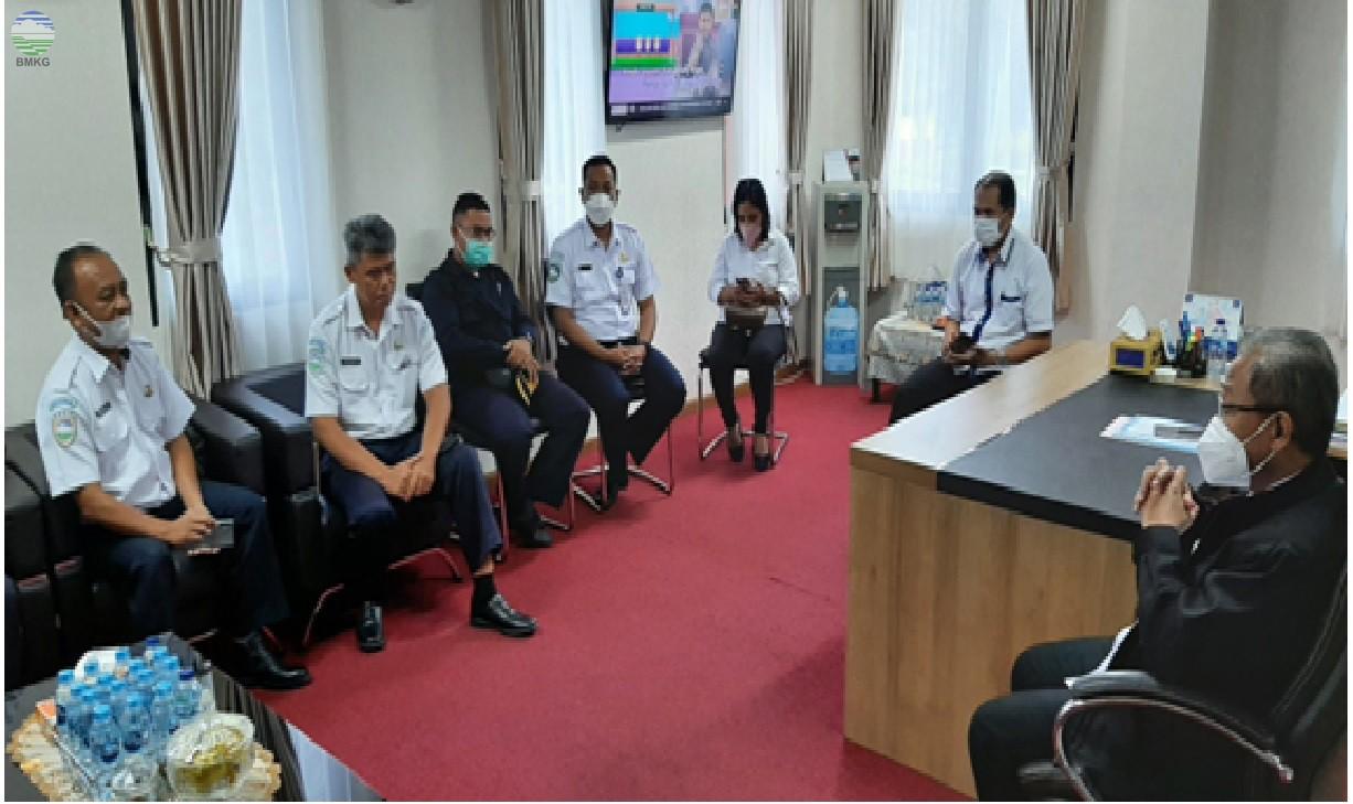 Perkuat Diseminasi, BMKG Maluku Kunjungi TVRI Maluku