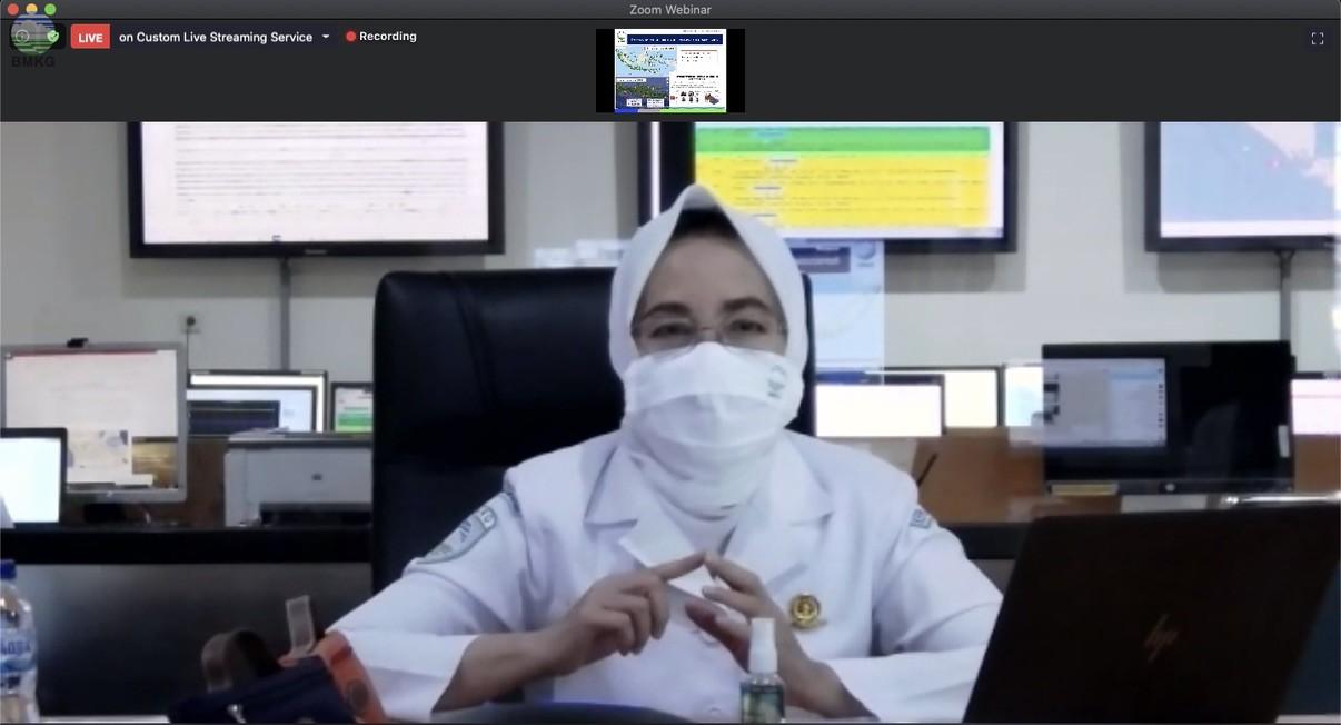 Kepala BMKG Berpartisipasi dalam Webinar, Bahas Sosialisasi Panduan Evakuasi Tsunami di Masa COVID-19