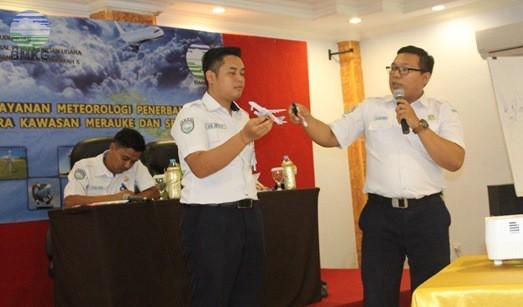 Pelatihan Pelayanan Meteorologi Penerbangan di Bandara udara Kawasan Merauke dan Sekitarnya