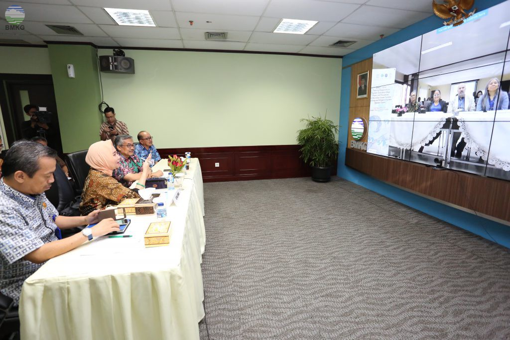 Video Conference antara Kepala BMKG dengan Peserta Workshop TEMPP