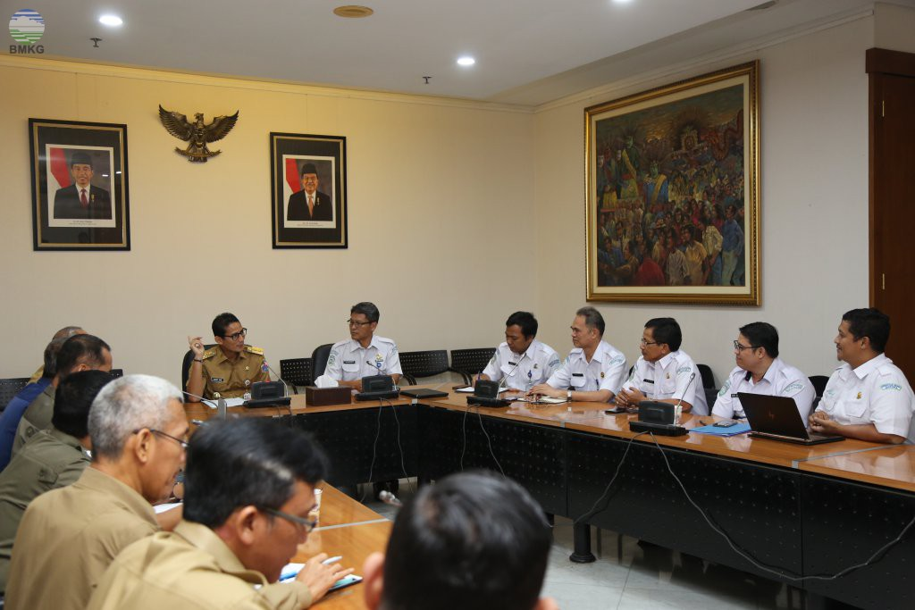 Audiensi BMKG Dengan Wakil Gubernur DKI Jakarta