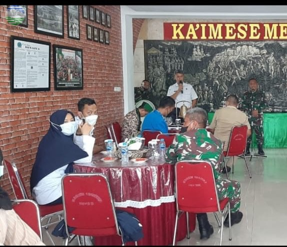Kunjungan Audiensi BMKG Maluku Ke korem 151 Binaiya