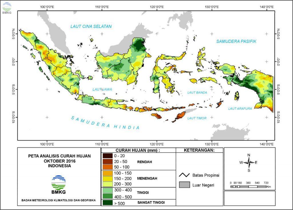 Analisis Curah Hujan dan Sifat Hujan Bulan Oktober 2016