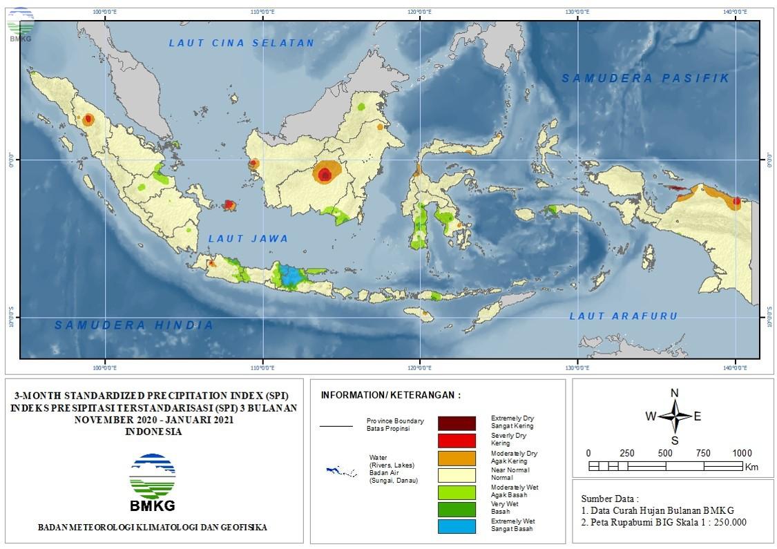 The Standardized Precipitation Index Februari 2021