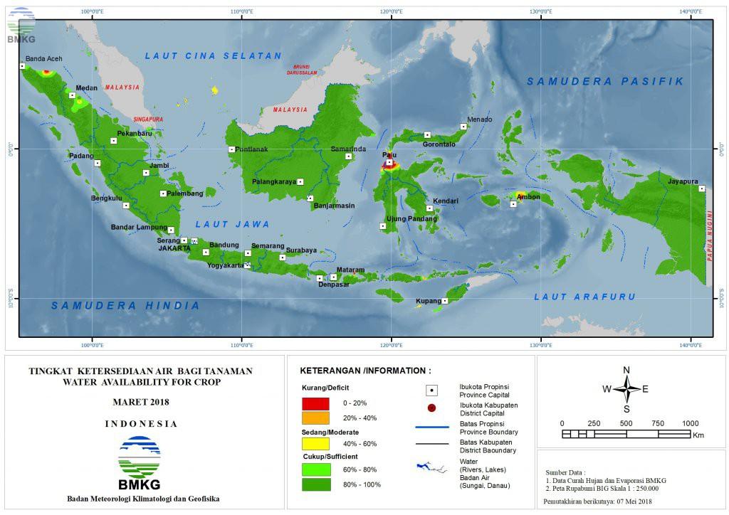 Ketersediaan Air Tanah di Indonesia Maret 2018