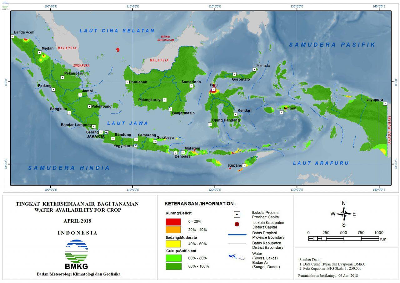 Ketersediaan Air Tanah di Indonesia April 2018