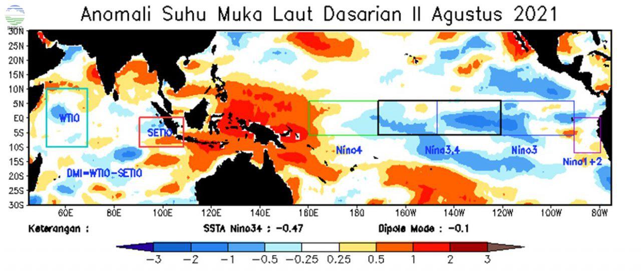 Analisis Dinamika Atmosfer Dasarian II Agustus 2021