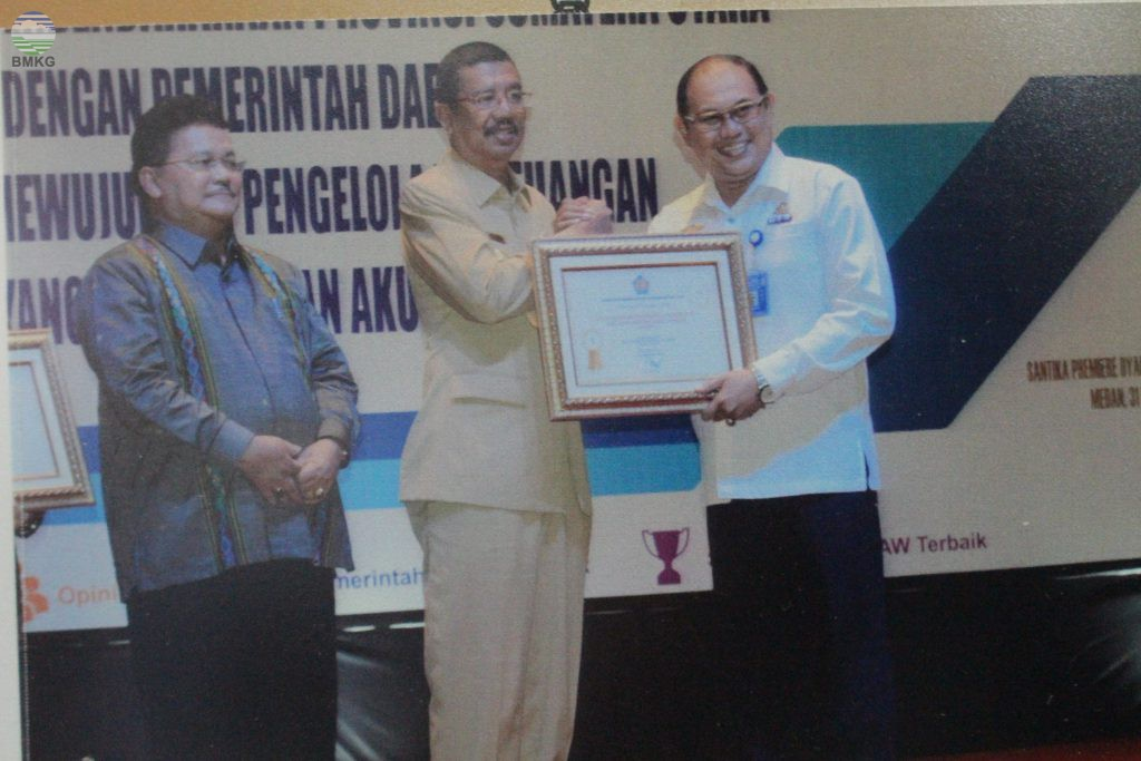 Penghargaan Satker Terbaik Diraih oleh BBMKG Wilayah I Medan