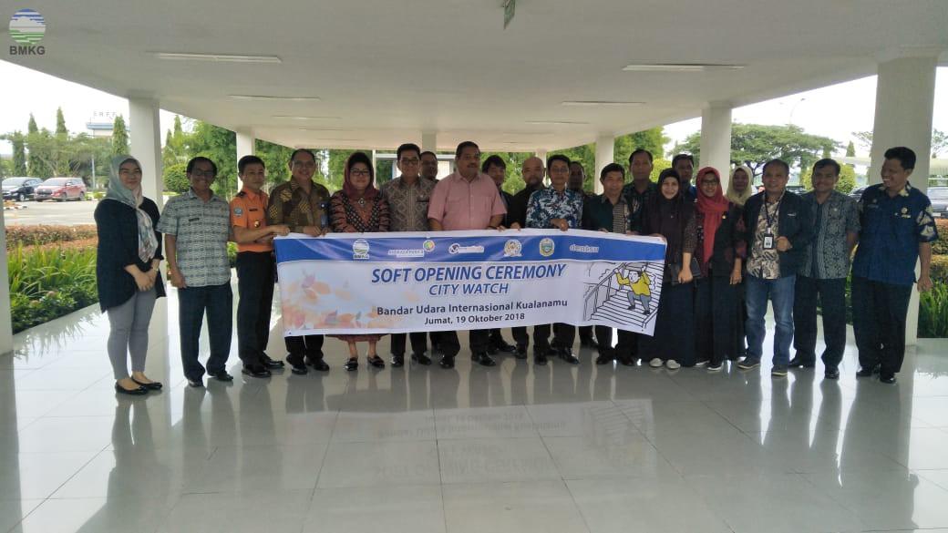 Balai Besar MKG Wilayah I Bersama PT Dentsu Indonesia Luncurkan Uji Coba Produk City Watch di Bandar Udara Kualanamu