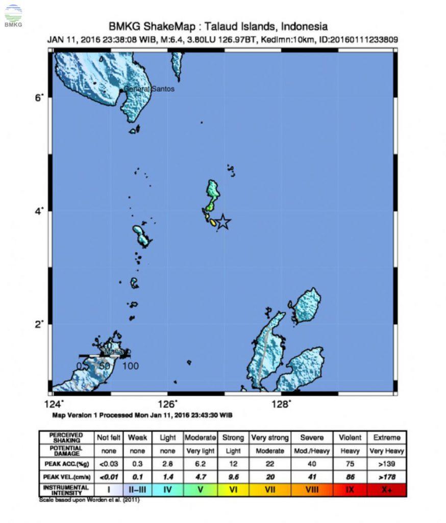 Press Release Gempabumi di Kepulauan Talaud Sulawesi Utara