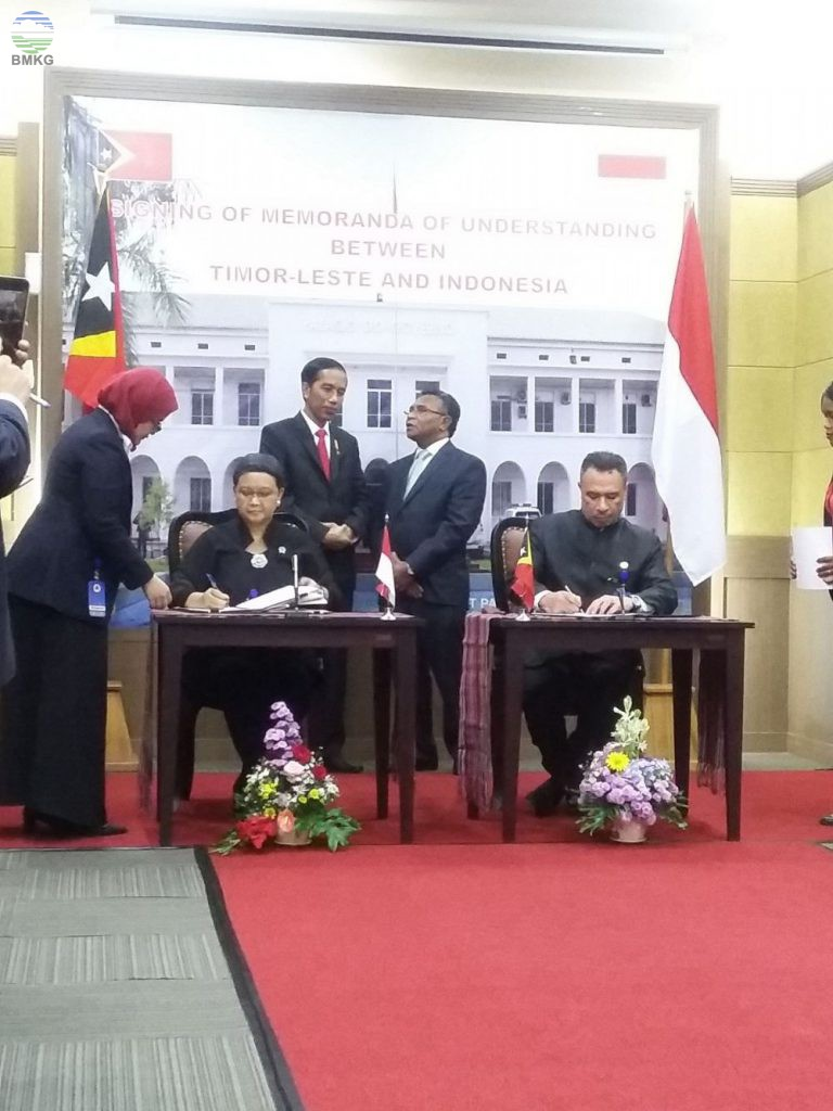 Penandatanganan MOU Antara Timor Leste Dan Indonesia
