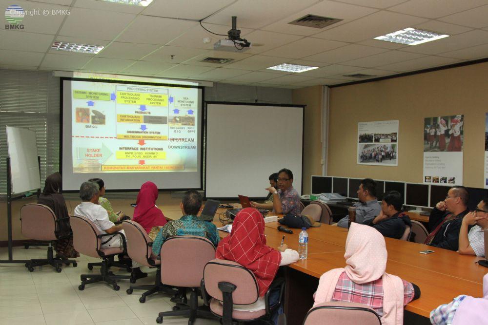 Mahasiswa Magister ITB Belajar Gempa Bumi dan Tsunami Ke BMKG